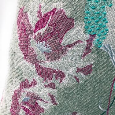 Kirsty Freeman Design - Embroidered Cushion, Hummingbird Cushion, Animal Pillow, Bird Cushion, Decorative Pillow, Handmade Cushion, Bird Pillow, Fancy Cushion, Linen Cushion, Throw Pillow, Hummingbird Pillow 3