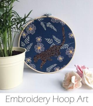 Kirsty Freeman Design - Embroidery Hoop Art, Wall Art, Animal Art, Art for Sale, Contemporary Embroidery, Modern Embroidery, Embroidery Art, Wall Decor, Embroidery Hoop, Bedroom Wall Decor, Modern Wall Art, Wall Art Decor