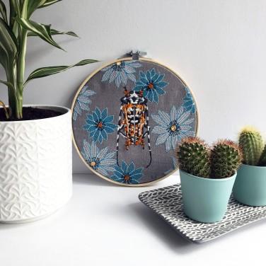 Kirsty Freeman Design - Embroidery Hoop Art, Wall Art, Beetle Art, Art for Sale, Contemporary Embroidery, Modern Embroidery, Embroidery Art, Wall Decor, Embroidery Hoop, Bedroom Wall Decor, Modern Wall Art, Wall Art Decor 5