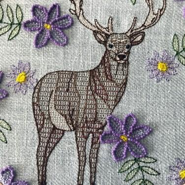 Kirsty Freeman Design - Embroidery Hoop Art, Wall Art, Stag Art, Art for Sale, Contemporary Embroidery, Modern Embroidery, Embroidery Art, Wall Decor, Embroidery Hoop, Bedroom Wall Decor, Modern Wall Art, Deer Art, Wall Art Decor 1