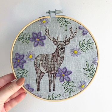 Kirsty Freeman Design - Embroidery Hoop Art, Wall Art, Stag Art, Art for Sale, Contemporary Embroidery, Modern Embroidery, Embroidery Art, Wall Decor, Embroidery Hoop, Bedroom Wall Decor, Modern Wall Art, Deer Art, Wall Art Decor