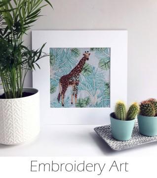 Kirsty Freeman Design - Wall Art, Animal Art, Art for Sale, Contemporary Embroidery, Modern Embroidery, Embroidery Art, Wall Decor, Kitchen Wall Art, Bedroom Wall Decor, Modern Wall Art, Wall Art Decor