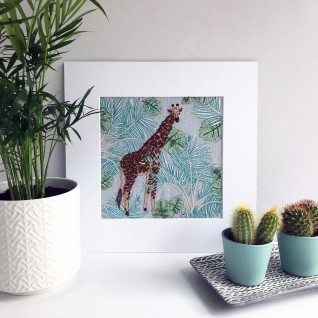 Kirsty Freeman Design - Wall Art, Art for Sale, Contemporary Embroidery, Modern Embroidery, Embroidery Art, Wall Decor, Kitchen Wall Art, Bedroom Wall Decor, Modern Wall Art, Giraffe Art, Wall Art Decor