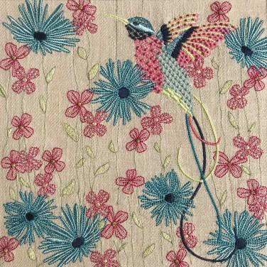 Kirsty Freeman Design - Wall Art, Hummingbird Art, Art for Sale, Contemporary Embroidery, Modern Embroidery, Embroidery Art, Wall Decor, Kitchen Wall Art, Bedroom Wall Decor, Modern Wall Art, Bird Art, Wall Art Decor 6