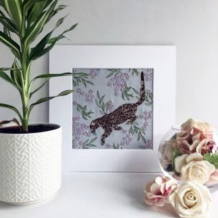 Kirsty Freeman Design - Wall Art, Leopard Art, Art for Sale, Contemporary Embroidery, Modern Embroidery, Embroidery Art, Wall Decor, Kitchen Wall Art, Bedroom Wall Decor, Modern Wall Art, Wall Art Decor