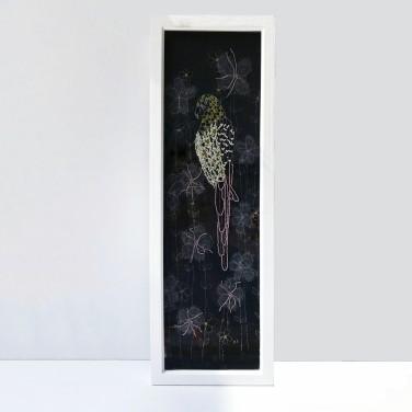 Kirsty Freeman Design - Wall Art, Parrot Art, Art for Sale, Contemporary Embroidery, Modern Embroidery, Embroidery Art, Wall Decor, Kitchen Wall Art, Bedroom Wall Decor, Modern Wall Art, Bird Art, Wall Art Decor 4