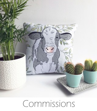 Kirsty Freeman Design - Commissions - Embroidered Home Decor, Embroidered Gifts, Embroidered Animals, Handmade Gifts, Handmade Home Decor, Handmade Cushions, Embroidered Cushions, Embroidered Wall Art, Embroidery Hoop Art, Embroidered Badges