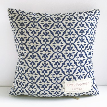Kirsty Freeman Design - Embroidered Cushion, Animal Pillow, Cow Cushion, Decorative Pillow, Handmade Cushion, Cow Pillow, Fancy Cushion, Linen Cushion, Throw Pillow 5