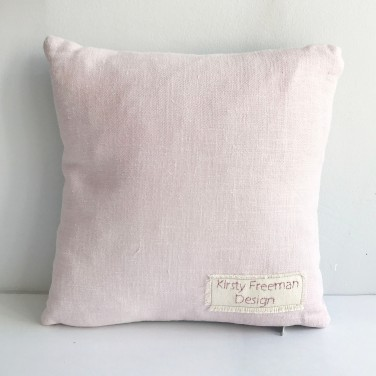 Kirsty Freeman Design - Embroidered Cushion, Animal Pillow, Pig Cushion, Decorative Pillow, Handmade Cushion, Pig Pillow, Fancy Cushion, Linen Cushion, Throw Pillow 4