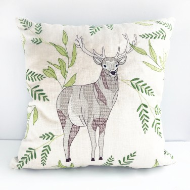 Kirsty Freeman Design - Embroidered Cushion, Animal Pillow, Stag Cushion, Decorative Pillow, Handmade Cushion, Stag Pillow, Fancy Cushion, Linen Cushion, Throw Pillow 2