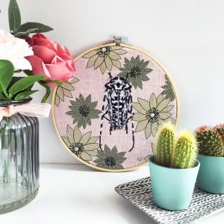 Kirsty Freeman Design - Embroidery Hoop Art, Wall Art, Beetle Art, Art for Sale, Contemporary Embroidery, Modern Embroidery, Embroidery Art, Wall Decor, Embroidery Hoop, Bedroom Wall Decor, Modern Wall Art, Wall Art Decor 8
