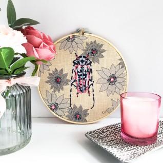 Kirsty Freeman Design - Embroidery Hoop Art, Wall Art, Beetle Art, Art for Sale, Contemporary Embroidery, Modern Embroidery, Embroidery Art, Wall Decor, Embroidery Hoop, Bedroom Wall Decor, Modern Wall Art, Wall Art Decor 9