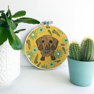 Kirsty Freeman Design - Embroidery Hoop Art, Wall Art, Dachshund Art, Art for Sale, Contemporary Embroidery, Modern Embroidery, Embroidery Art, Wall Decor, Embroidery Hoop, Bedroom Wall Decor, Modern Wall Art, Wall Art Decor 7