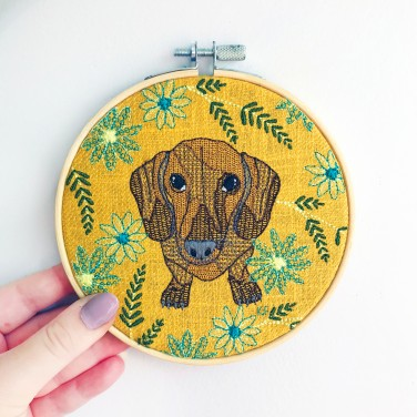 Kirsty Freeman Design - Embroidery Hoop Art, Wall Art, Dachshund Art, Art for Sale, Contemporary Embroidery, Modern Embroidery, Embroidery Art, Wall Decor, Embroidery Hoop, Bedroom Wall Decor, Modern Wall Art, Wall Art Decor 8