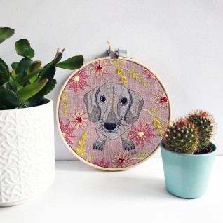 Kirsty Freeman Design - Embroidery Hoop Art, Wall Art, Dachshund Art, Art for Sale, Contemporary Embroidery, Modern Embroidery, Embroidery Art, Wall Decor, Embroidery Hoop, Bedroom Wall Decor, Modern Wall Art, Wall Art Decor 1