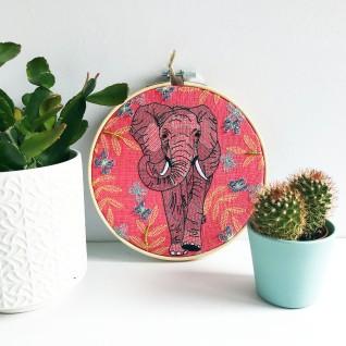 Kirsty Freeman Design - Embroidery Hoop Art, Wall Art, Elephant Art, Art for Sale, Contemporary Embroidery, Modern Embroidery, Embroidery Art, Wall Decor, Embroidery Hoop, Bedroom Wall Decor, Modern Wall Art, Wall Art Decor