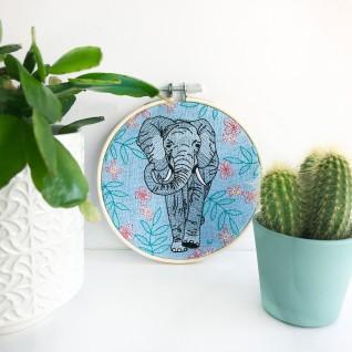 Kirsty Freeman Design - Embroidery Hoop Art, Wall Art, Elephant Art, Art for Sale, Contemporary Embroidery, Modern Embroidery, Embroidery Art, Wall Decor, Embroidery Hoop, Bedroom Wall Decor, Modern Wall Art, Wall Art Decor 6