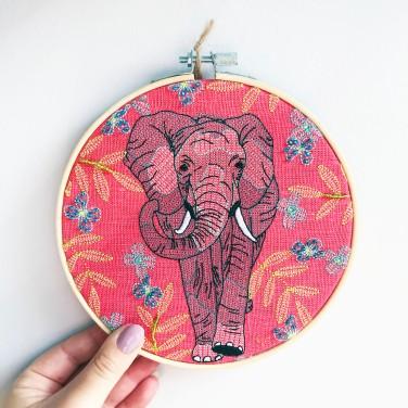 Kirsty Freeman Design - Embroidery Hoop Art, Wall Art, Elephant Art, Art for Sale, Contemporary Embroidery, Modern Embroidery, Embroidery Art, Wall Decor, Embroidery Hoop, Bedroom Wall Decor, Modern Wall Art, Wall Art Decor 3