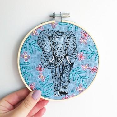 Kirsty Freeman Design - Embroidery Hoop Art, Wall Art, Elephant Art, Art for Sale, Contemporary Embroidery, Modern Embroidery, Embroidery Art, Wall Decor, Embroidery Hoop, Bedroom Wall Decor, Modern Wall Art, Wall Art Decor 7
