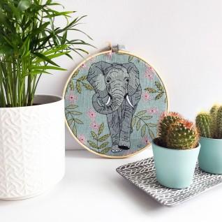 Kirsty Freeman Design - Embroidery Hoop Art, Wall Art, Elephant Art, Art for Sale, Contemporary Embroidery, Modern Embroidery, Embroidery Art, Wall Decor, Embroidery Hoop, Bedroom Wall Decor, Modern Wall Art, Wall Art Decor 8