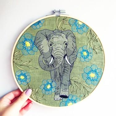Kirsty Freeman Design - Embroidery Hoop Art, Wall Art, Elephant Art, Art for Sale, Contemporary Embroidery, Modern Embroidery, Embroidery Art, Wall Decor, Embroidery Hoop, Bedroom Wall Decor, Modern Wall Art, Wall Art Decor 9