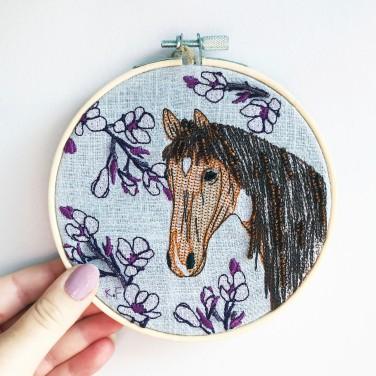 Kirsty Freeman Design - Embroidery Hoop Art, Wall Art, Horse Art, Art for Sale, Contemporary Embroidery, Modern Embroidery, Embroidery Art, Wall Decor, Embroidery Hoop, Bedroom Wall Decor, Modern Wall Art, Wall Art Decor 4