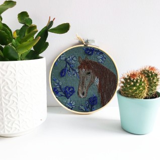 Kirsty Freeman Design - Embroidery Hoop Art, Wall Art, Horse Art, Art for Sale, Contemporary Embroidery, Modern Embroidery, Embroidery Art, Wall Decor, Embroidery Hoop, Bedroom Wall Decor, Modern Wall Art, Wall Art Decor