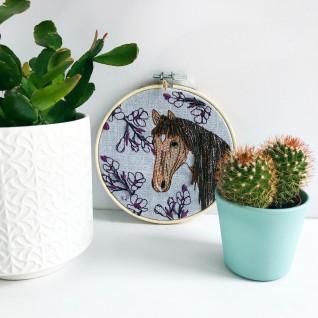 Kirsty Freeman Design - Embroidery Hoop Art, Wall Art, Horse Art, Art for Sale, Contemporary Embroidery, Modern Embroidery, Embroidery Art, Wall Decor, Embroidery Hoop, Bedroom Wall Decor, Modern Wall Art, Wall Art Decor 1