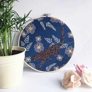 Kirsty Freeman Design - Embroidery Hoop Art, Wall Art, Leopard Art, Art for Sale, Contemporary Embroidery, Modern Embroidery, Embroidery Art, Wall Decor, Embroidery Hoop, Bedroom Wall Decor, Modern Wall Art, Wall Art Decor 2