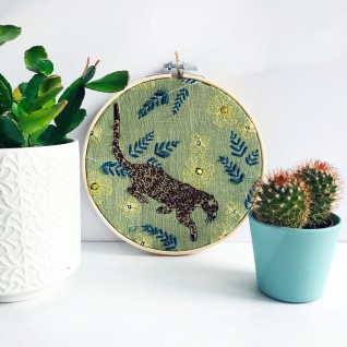 Kirsty Freeman Design - Embroidery Hoop Art, Wall Art, Leopard Art, Art for Sale, Contemporary Embroidery, Modern Embroidery, Embroidery Art, Wall Decor, Embroidery Hoop, Bedroom Wall Decor, Modern Wall Art, Wall Art Decor 4