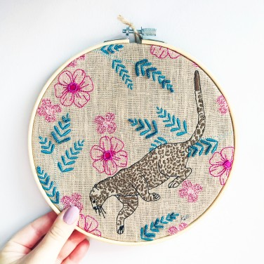 Kirsty Freeman Design - Embroidery Hoop Art, Wall Art, Leopard Art, Art for Sale, Contemporary Embroidery, Modern Embroidery, Embroidery Art, Wall Decor, Embroidery Hoop, Bedroom Wall Decor, Modern Wall Art, Wall Art Decor 10
