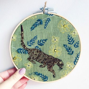Kirsty Freeman Design - Embroidery Hoop Art, Wall Art, Leopard Art, Art for Sale, Contemporary Embroidery, Modern Embroidery, Embroidery Art, Wall Decor, Embroidery Hoop, Bedroom Wall Decor, Modern Wall Art, Wall Art Decor 12