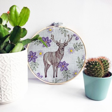 Kirsty Freeman Design - Embroidery Hoop Art, Wall Art, Stag Art, Art for Sale, Contemporary Embroidery, Modern Embroidery, Embroidery Art, Wall Decor, Embroidery Hoop, Bedroom Wall Decor, Modern Wall Art, Deer Art, Wall Art Decor 4