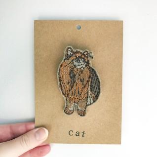 Kirsty Freeman Design - Handmade Badge, Embroidered Badge, Animal Badge, Cat Badge, Fabric Badge, Pin Badge, Cute Pin Badges, Pretty Badge, Decorative Badge, Unique Badge 1