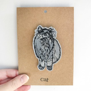 Kirsty Freeman Design - Handmade Badge, Embroidered Badge, Animal Badge, Cat Badge, Fabric Badge, Pin Badge, Cute Pin Badges, Pretty Badge, Decorative Badge, Unique Badge 2