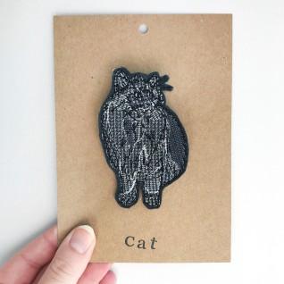 Kirsty Freeman Design - Handmade Badge, Embroidered Badge, Animal Badge, Cat Badge, Fabric Badge, Pin Badge, Cute Pin Badges, Pretty Badge, Decorative Badge, Unique Badge