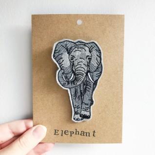 Kirsty Freeman Design - Handmade Badge, Embroidered Badge, Animal Badge, Elephant Badge, Fabric Badge, Pin Badge, Cute Pin Badges, Pretty Badge, Decorative Badge, Unique Badge 2