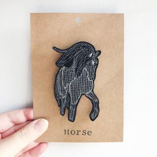Kirsty Freeman Design - Handmade Badge, Embroidered Badge, Animal Badge, Horse Badge, Fabric Badge, Pin Badge, Cute Pin Badges, Pretty Badge, Decorative Badge, Unique Badge 1