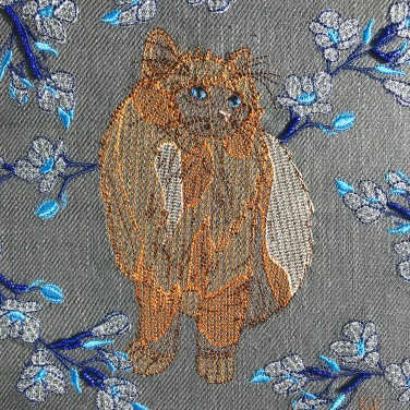 Kirsty Freeman Design - Wall Art, Art for Sale, Contemporary Embroidery, Modern Embroidery, Embroidery Art, Wall Decor, Kitchen Wall Art, Bedroom Wall Decor, Modern Wall Art, Cat Art, Wall Art 5