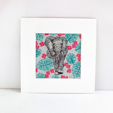 Kirsty Freeman Design - Wall Art, Art for Sale, Contemporary Embroidery, Modern Embroidery, Embroidery Art, Wall Decor, Kitchen Wall Art, Bedroom Wall Decor, Modern Wall Art, Elephant Art, Wall Art 1