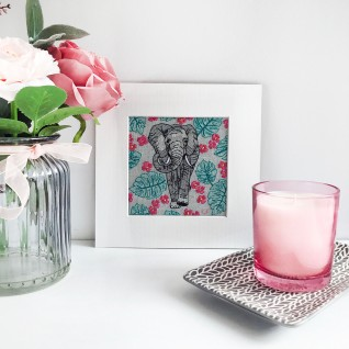 Kirsty Freeman Design - Wall Art, Art for Sale, Contemporary Embroidery, Modern Embroidery, Embroidery Art, Wall Decor, Kitchen Wall Art, Bedroom Wall Decor, Modern Wall Art, Elephant Art, Wall Art