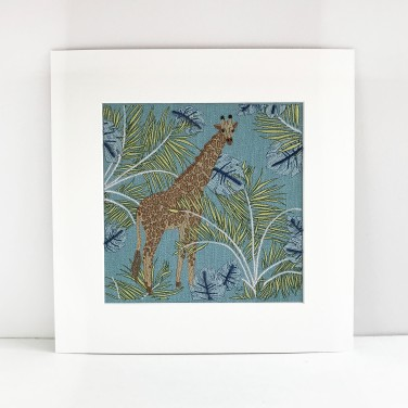 Kirsty Freeman Design - Wall Art, Art for Sale, Contemporary Embroidery, Modern Embroidery, Embroidery Art, Wall Decor, Kitchen Wall Art, Bedroom Wall Decor, Modern Wall Art, Giraffe Art, Wall Art Decor 7