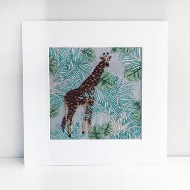 Kirsty Freeman Design - Wall Art, Art for Sale, Contemporary Embroidery, Modern Embroidery, Embroidery Art, Wall Decor, Kitchen Wall Art, Bedroom Wall Decor, Modern Wall Art, Giraffe Art, Wall Art Decor 2