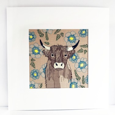 Kirsty Freeman Design - Wall Art, Art for Sale, Contemporary Embroidery, Modern Embroidery, Embroidery Art, Wall Decor, Kitchen Wall Art, Bedroom Wall Decor, Modern Wall Art, Highland Cow Art, Wall Art 2