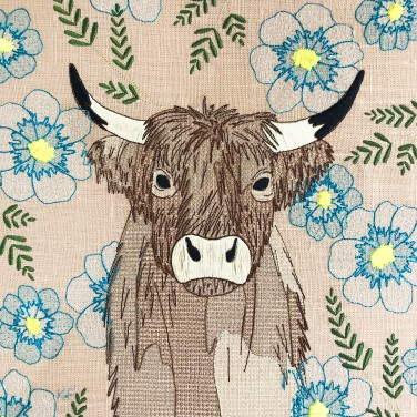 Kirsty Freeman Design - Wall Art, Art for Sale, Contemporary Embroidery, Modern Embroidery, Embroidery Art, Wall Decor, Kitchen Wall Art, Bedroom Wall Decor, Modern Wall Art, Highland Cow Art, Wall Art 3