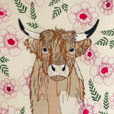 Kirsty Freeman Design - Wall Art, Art for Sale, Contemporary Embroidery, Modern Embroidery, Embroidery Art, Wall Decor, Kitchen Wall Art, Bedroom Wall Decor, Modern Wall Art, Highland Cow Art, Wall Art 5
