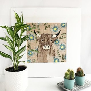 Kirsty Freeman Design - Wall Art, Art for Sale, Contemporary Embroidery, Modern Embroidery, Embroidery Art, Wall Decor, Kitchen Wall Art, Bedroom Wall Decor, Modern Wall Art, Highland Cow Art, Wall Art 1