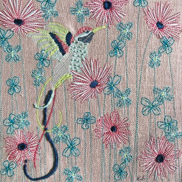 Kirsty Freeman Design - Wall Art, Art for Sale, Contemporary Embroidery, Modern Embroidery, Embroidery Art, Wall Decor, Kitchen Wall Art, Bedroom Wall Decor, Modern Wall Art, Hummingbird Art, Wall Art 23
