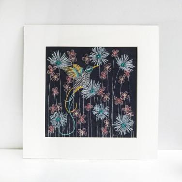 Kirsty Freeman Design - Wall Art, Hummingbird Art, Art for Sale, Contemporary Embroidery, Modern Embroidery, Embroidery Art, Wall Decor, Kitchen Wall Art, Bedroom Wall Decor, Modern Wall Art, Bird Art, Wall Art Decor 13