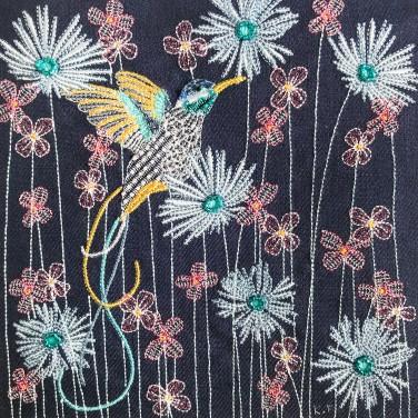 Kirsty Freeman Design - Wall Art, Hummingbird Art, Art for Sale, Contemporary Embroidery, Modern Embroidery, Embroidery Art, Wall Decor, Kitchen Wall Art, Bedroom Wall Decor, Modern Wall Art, Bird Art, Wall Art Decor